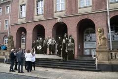NS-Redner vor dem Rathaus Herne